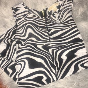 MICHAEL KORS SLEEVELESS ZEBRA BLOUSE